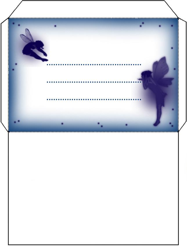 Blue Fairy Envelope - Rooftop Post Printables