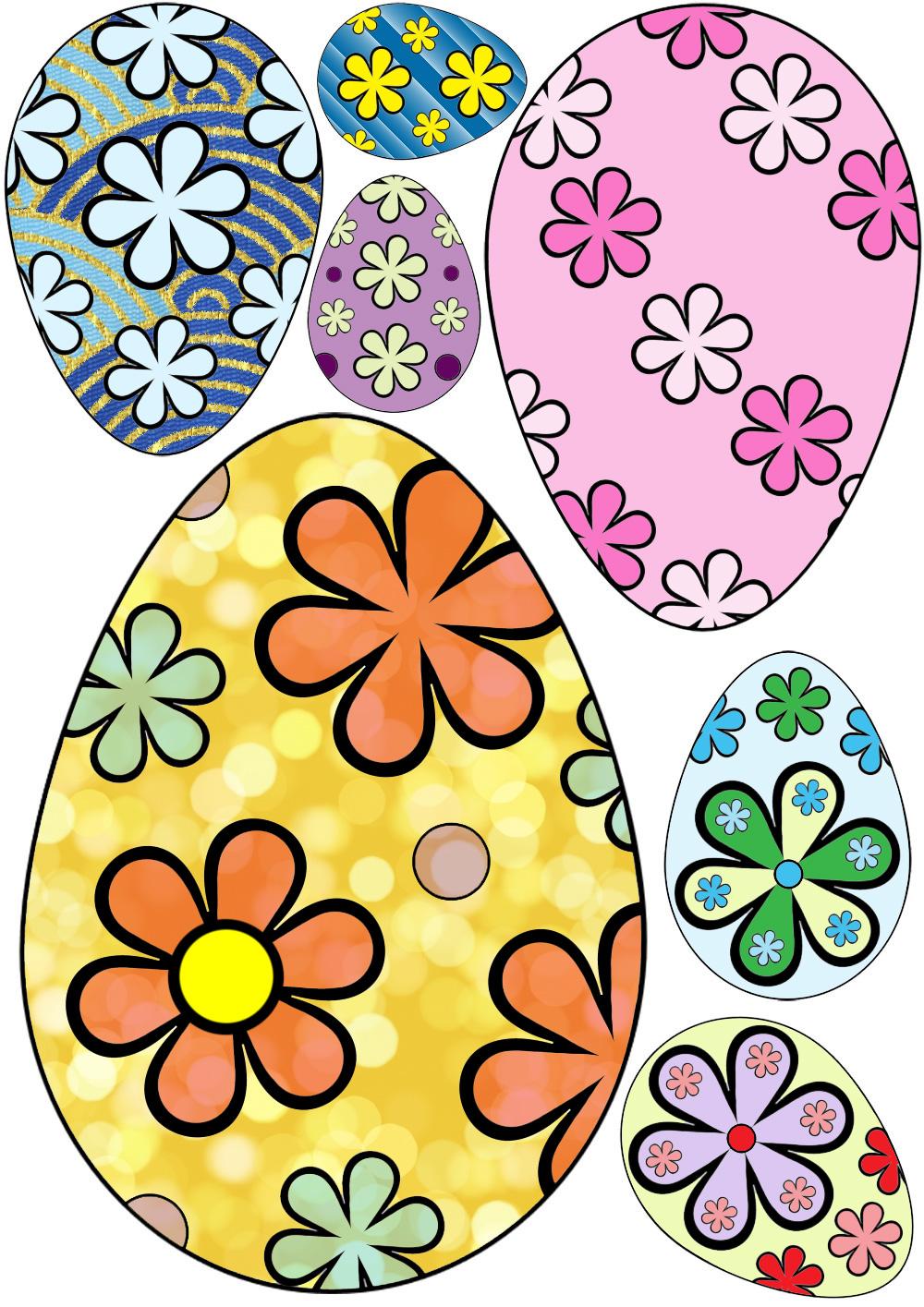 Decorative Easter Eggs Flower Design Rooftop Post