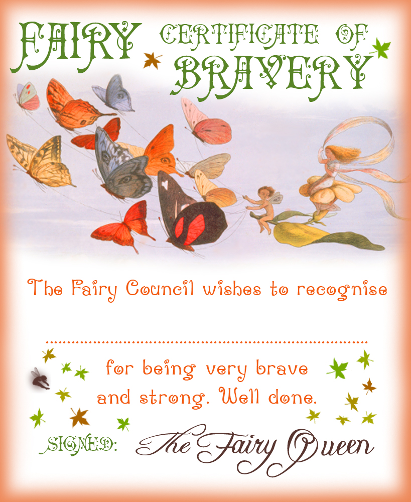 Fairy Certificate of Bravery - Rooftop Post Printables