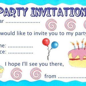 Basic birthday party invitation