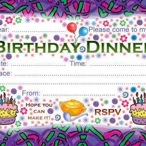 Party Invitation: Birthday Dinner
