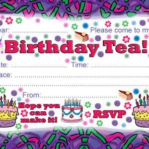 Printable Party Invitation: Birthday Tea