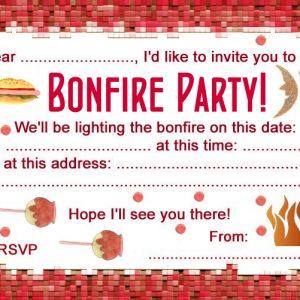 Bonfire night party invitation
