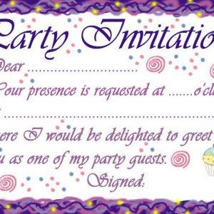 Classic style birthday party invitation