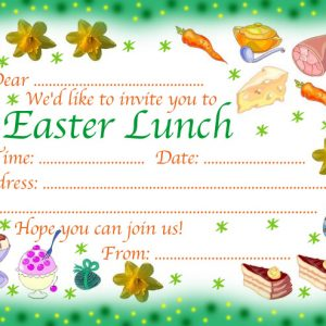 An invitation to Easter lunch