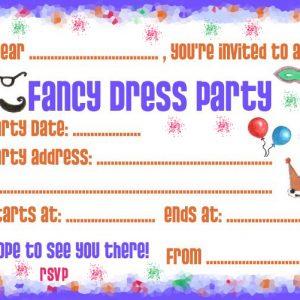 Party Invitation: Fancy Dress