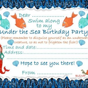 Invitation for an Under the Sea Birthday Party