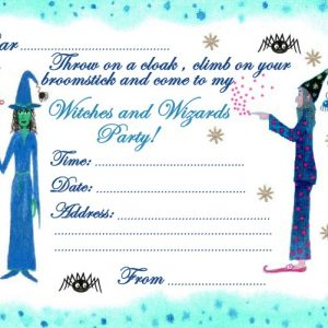 Invitation to a witches and wizards party