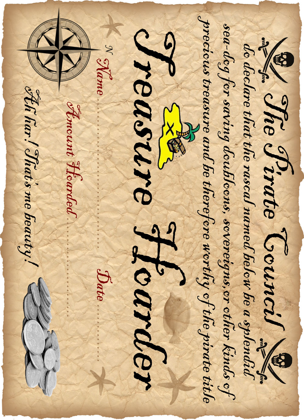 Definitely free printable honorary pirate certificate party definitely free printable honorary pirate certificate party hard pinterest certificate free printable and free 1betcityfo Gallery