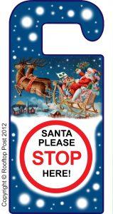 Printable Door Hanger: Santa please stop here!