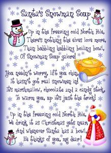 Santa's Snowman Soup Poem