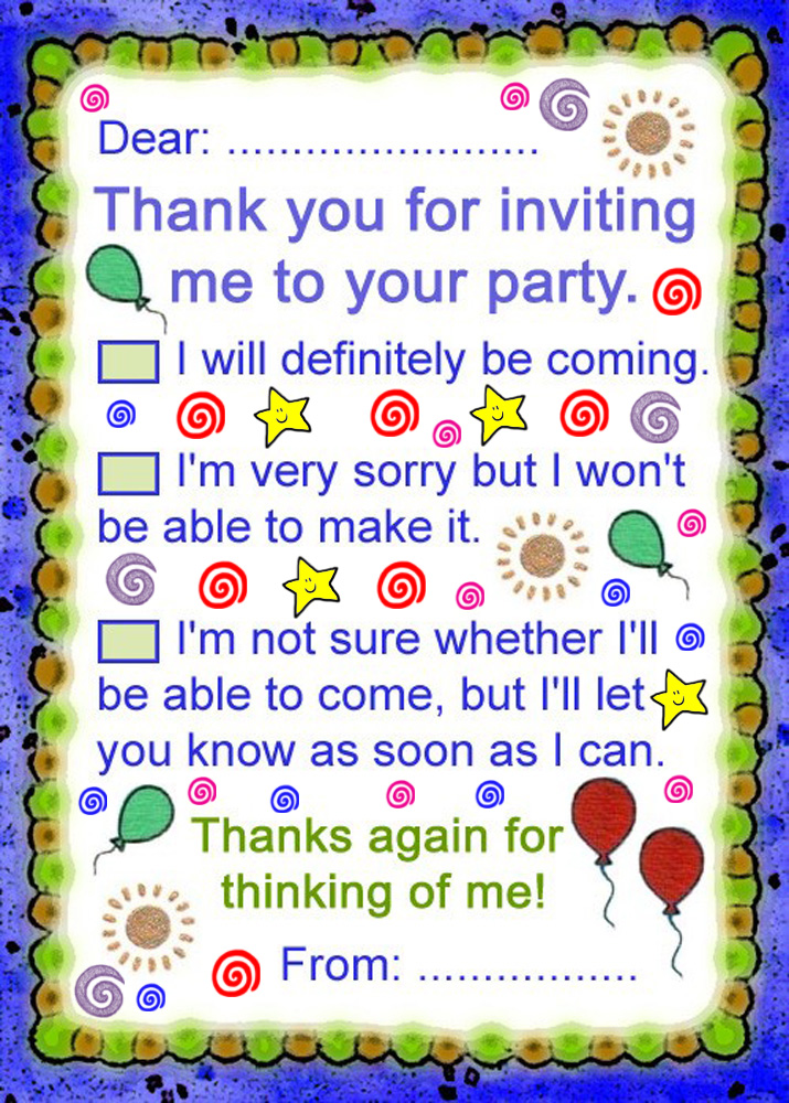 Thank You for Inviting Me to Your Party – Thank You for Inviting Me to Your Party