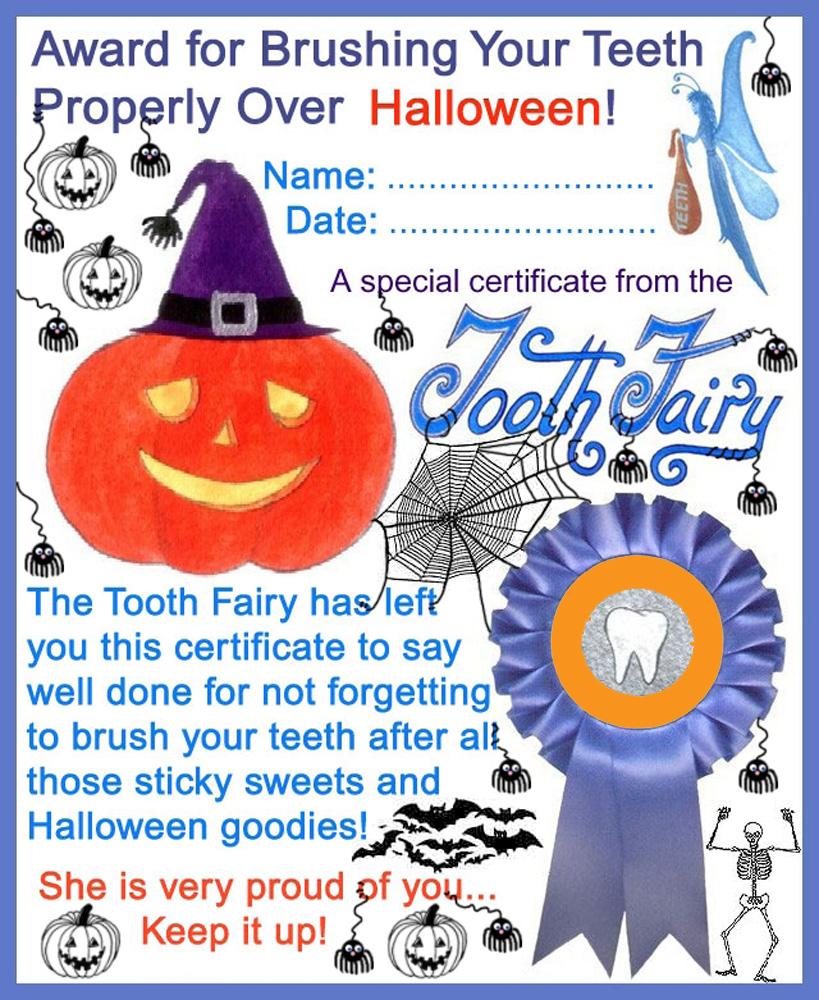 Printable Halloween Certificates Tikiritschule Pegasus