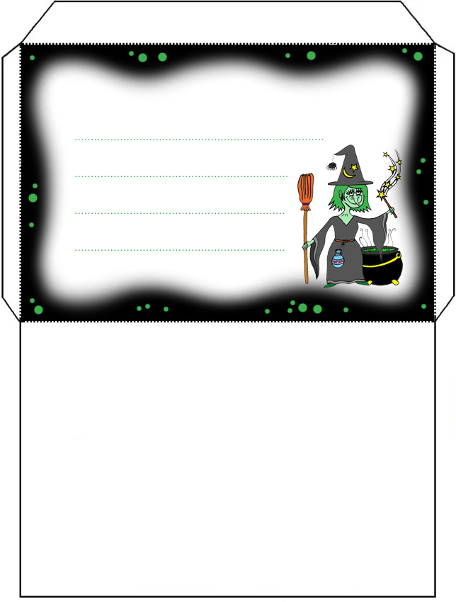 Witch S Brew Envelope Rooftop Post Printables