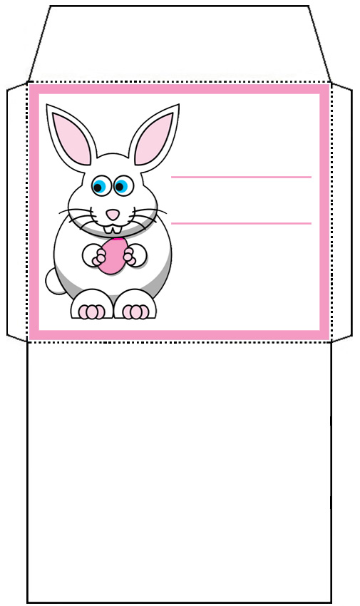 Mini Easter Bunny Envelope: Pink - Rooftop Post Printables