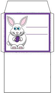Mini Easter Bunny Envelope: Purple