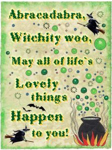 A friendly witch poem to hang on your child's wall