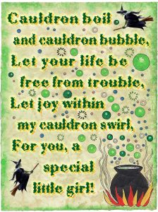 Witchy wall spell - a bit of fun for your little girl's wall.
