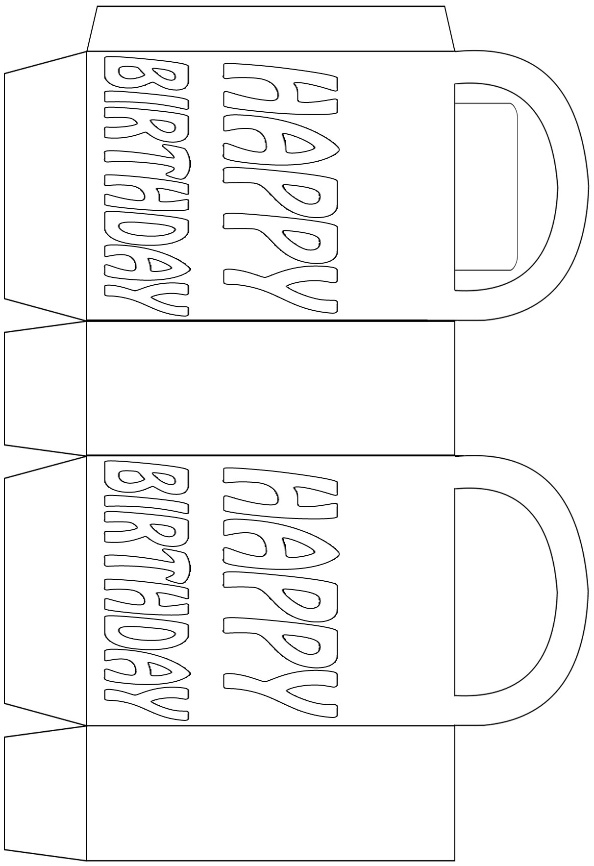 Colouring in bag - Birthday Party Bag To Colour In