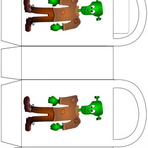 Free printable Frankenstein party bag