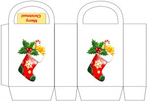 Merry Christmas Stocking Party Bag
