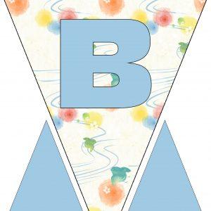 Alphabet Bunting - Letter B