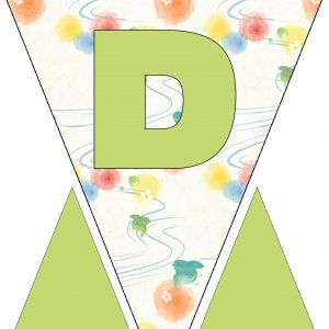 Alphabet Bunting - Letter D