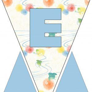 Alphabet Bunting - Letter E