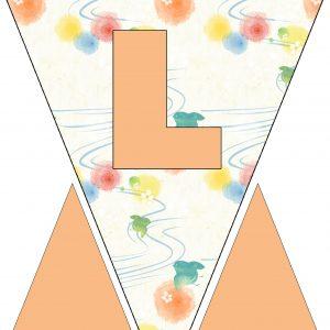 Alphabet Bunting - Letter L