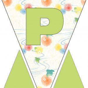 Alphabet Bunting - Letter P