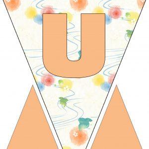 Alphabet Bunting - Letter U