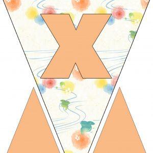 Alphabet Bunting - Letter X
