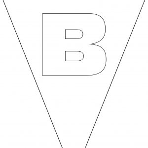 Colouring Bunting - Letter B