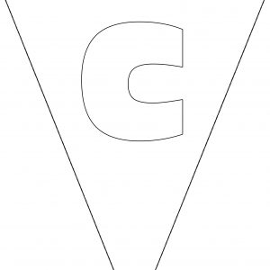 Colouring Bunting - Letter C