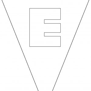 Colouring Bunting - Letter E
