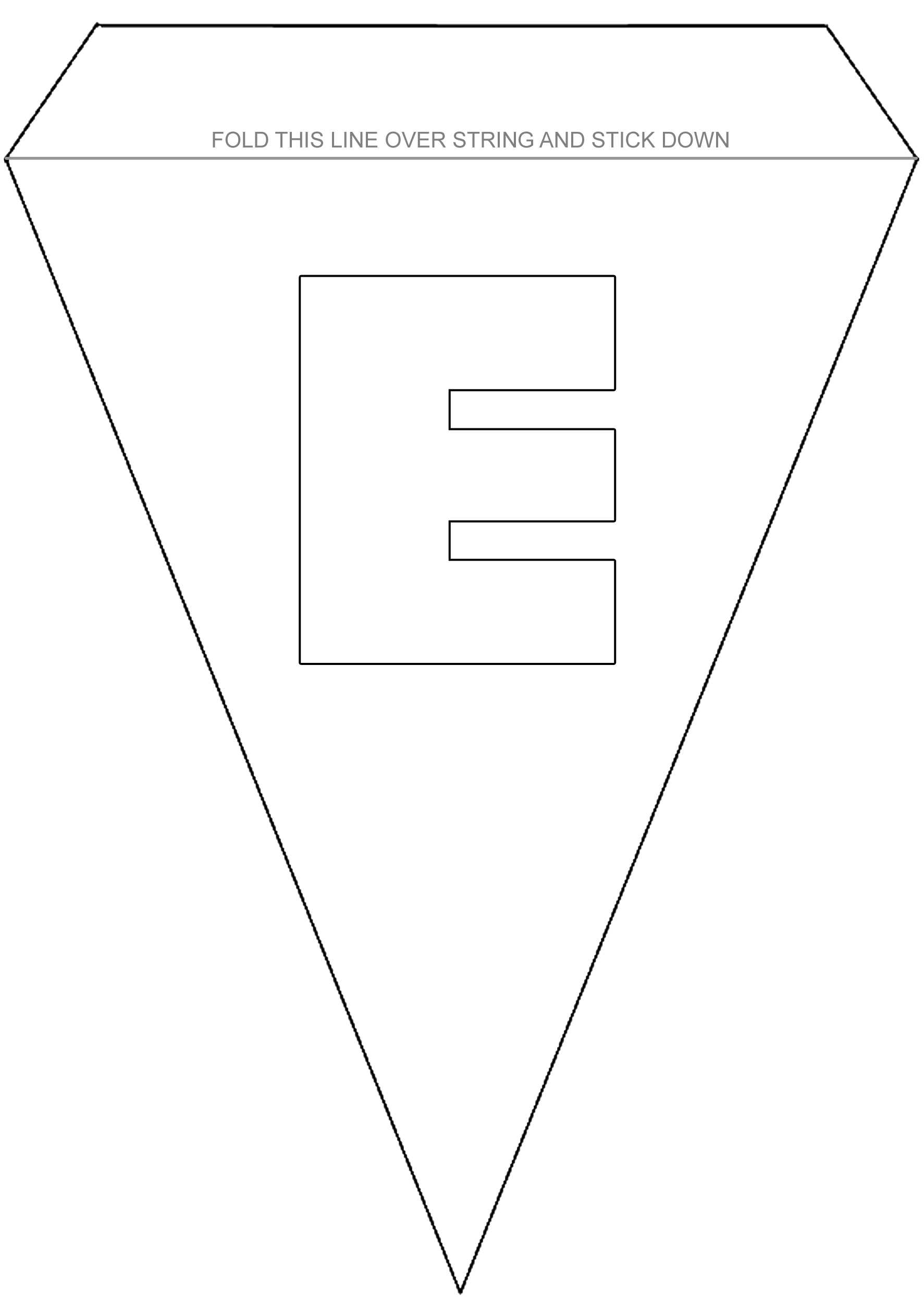 colouring bunting letter e