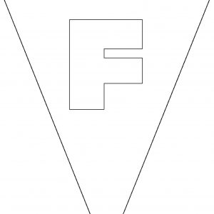 Colouring Bunting - Letter F
