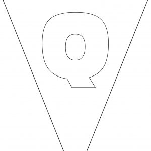 Colouring Bunting - Letter Q