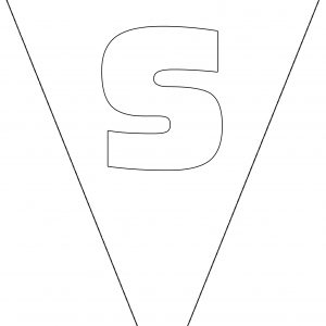 Colouring Bunting - Letter S