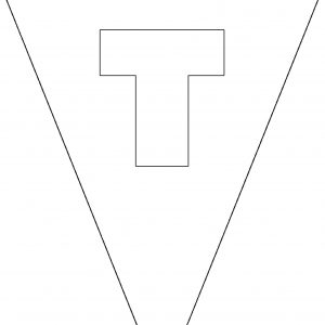 Colouring Bunting - Letter T