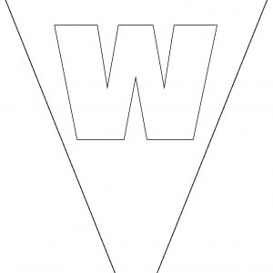 Colouring Bunting - Letter W
