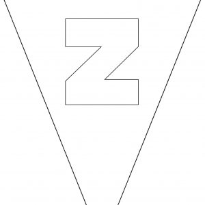 Colouring Bunting - Letter Z