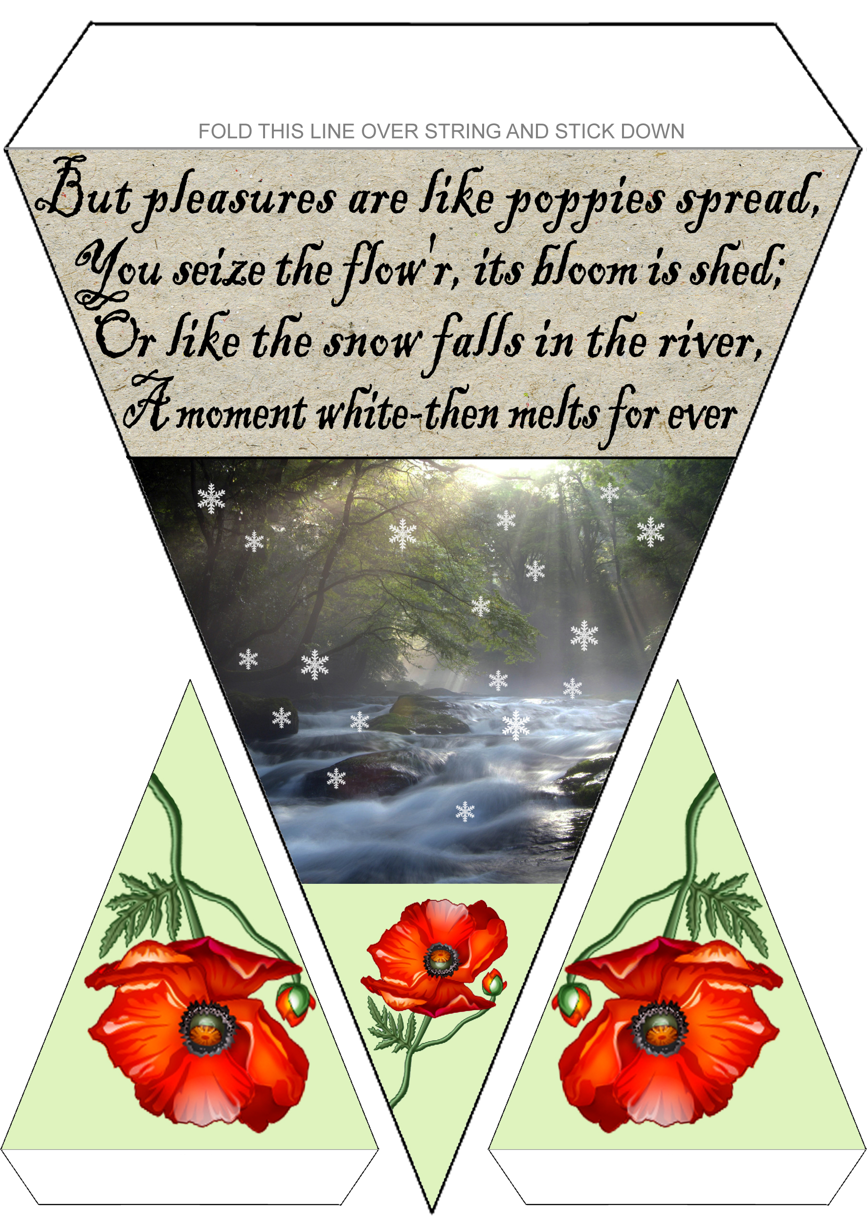 Rabbie Burns Bunting: Poppies and Snow