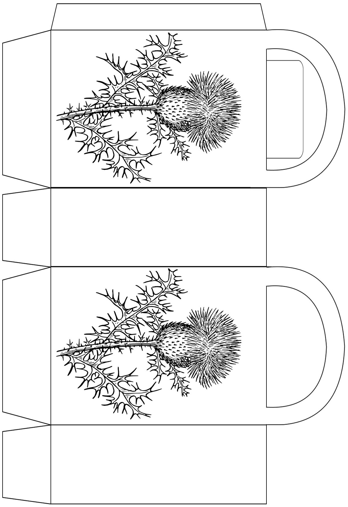 scottish-thistle-printable-party-bag | Rooftop Post Printables