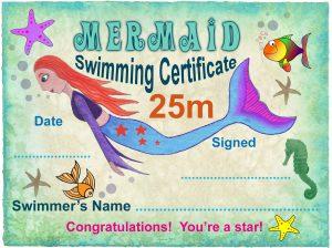 Free 25m Mermaid Swimming Certificate