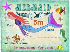 Free 5m Mermaid Swimming Certificate