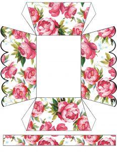 Roses Paper Basket