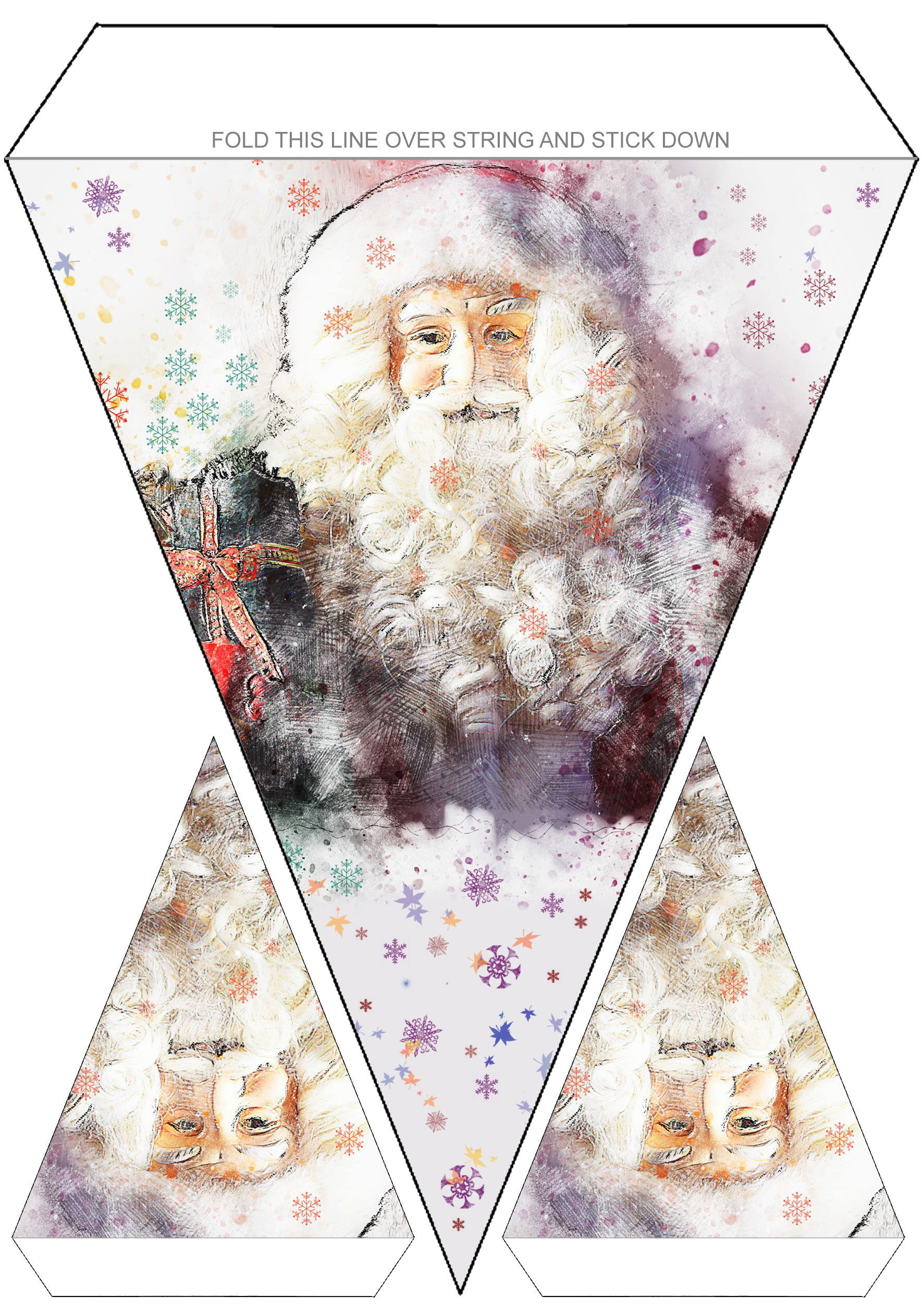 Free printable Santa Claus bunting