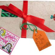This teeny envelope of good girl sprinkles is a cute addition to any little girl's Father Christmas letter.