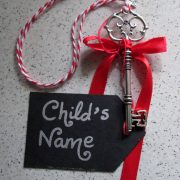 Each Santa's magic key tag can be personalised with your child's name.